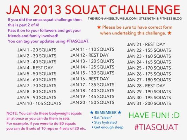 January Squat Challenge: Letu2019s stay healthy and fit for ...